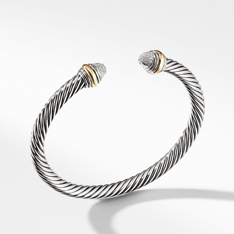 David Yurman Cable Classics Collection® Bracelet with Diamonds and 14K Gold