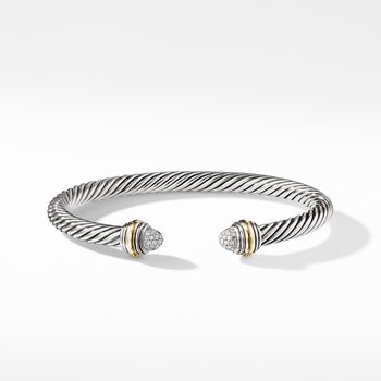 Cable Classics Collection® Bracelet with Diamonds and 14K Gold