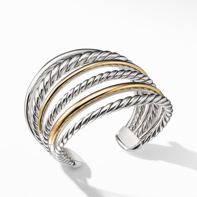 David Yurman Pure Form® Cuff Bracelet with 18K Gold