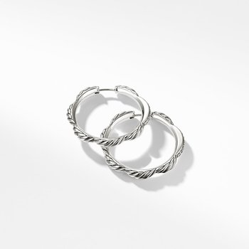 Tides Hoop Earrings with Diamonds