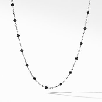 Cable Collectibles® Bead and Chain Necklace with Black Onyx