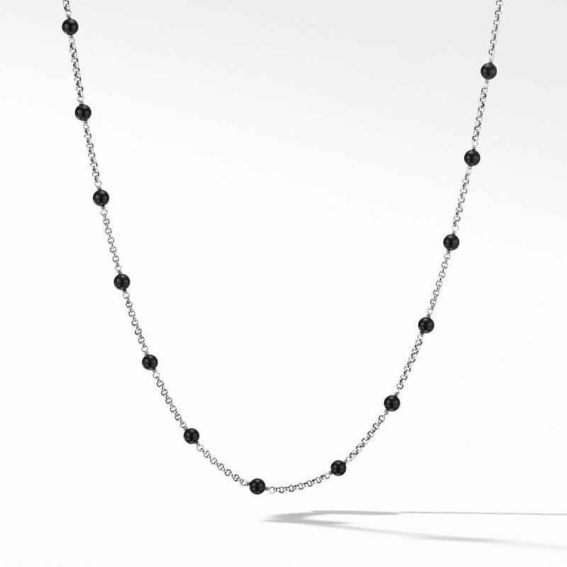 David Yurman Cable Collectibles® Bead and Chain Necklace with Black Onyx