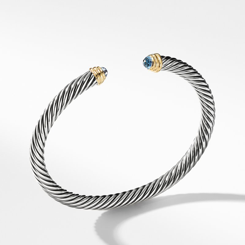 David Yurman Cable Classics Collection® Bracelet with Blue Topaz and 14K Gold