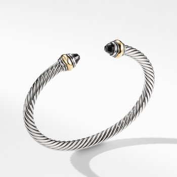 Cable Classic Bracelet with Black Onyx and Gold