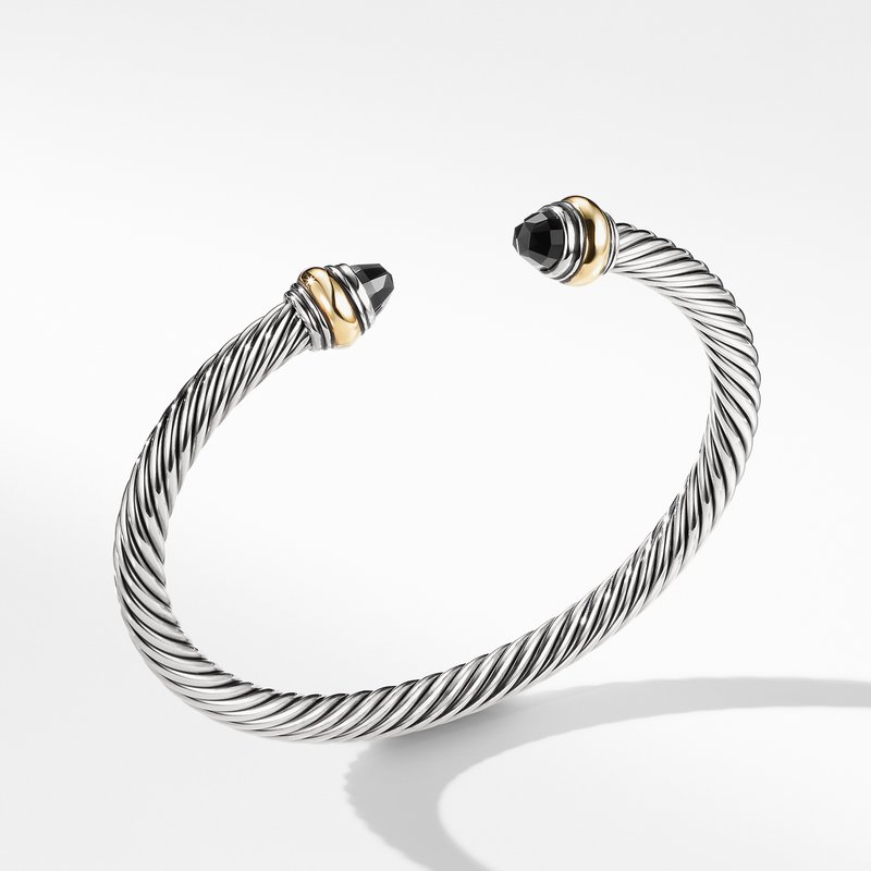 David Yurman Cable Classic Bracelet with Black Onyx and Gold