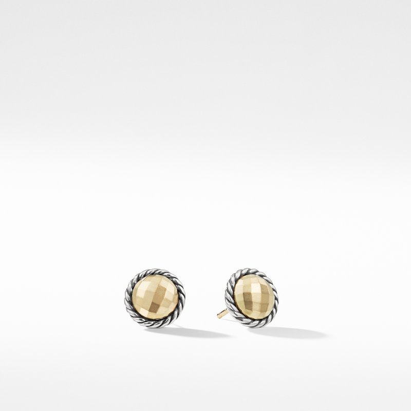 David Yurman Earrings with 18K Gold