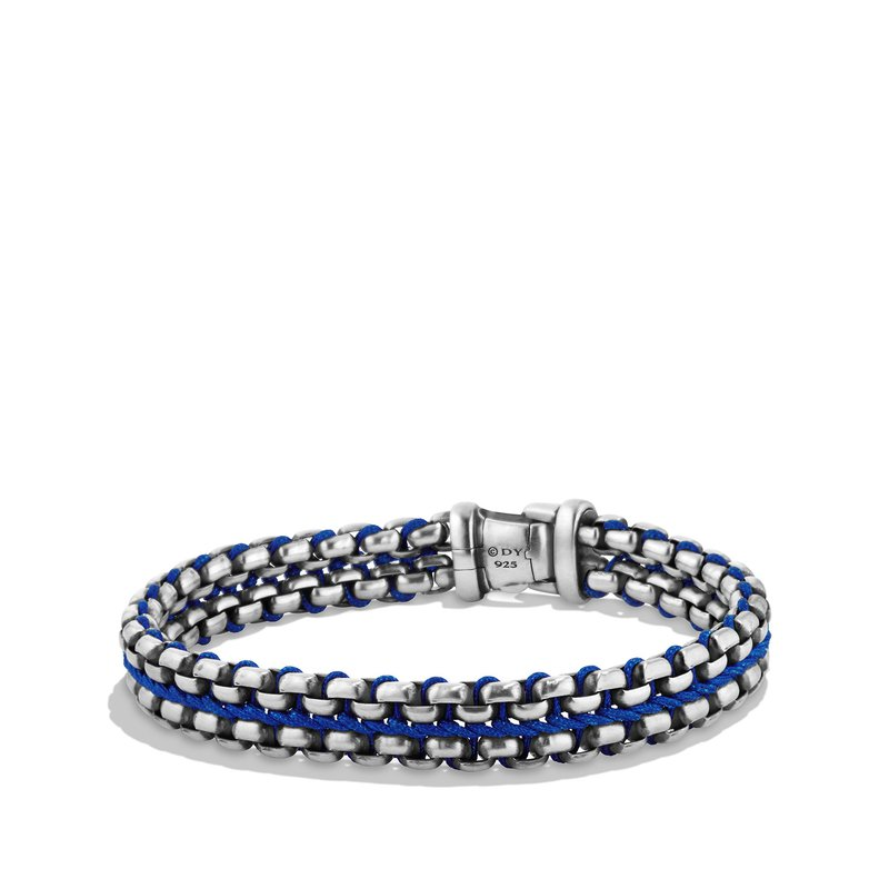 David Yurman Woven Box Chain Bracelet in Blue