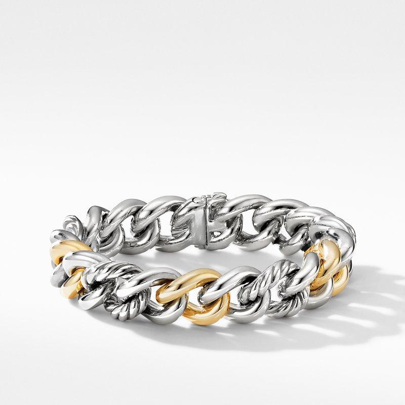 David Yurman Curb Chain Bracelet with 14K Yellow Gold