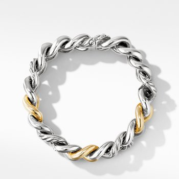 Curb Chain Bracelet with 14K Yellow Gold