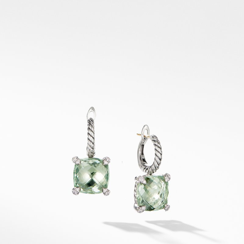 David Yurman Chatelaine® Drop Earrings with Prasiolite and Diamonds
