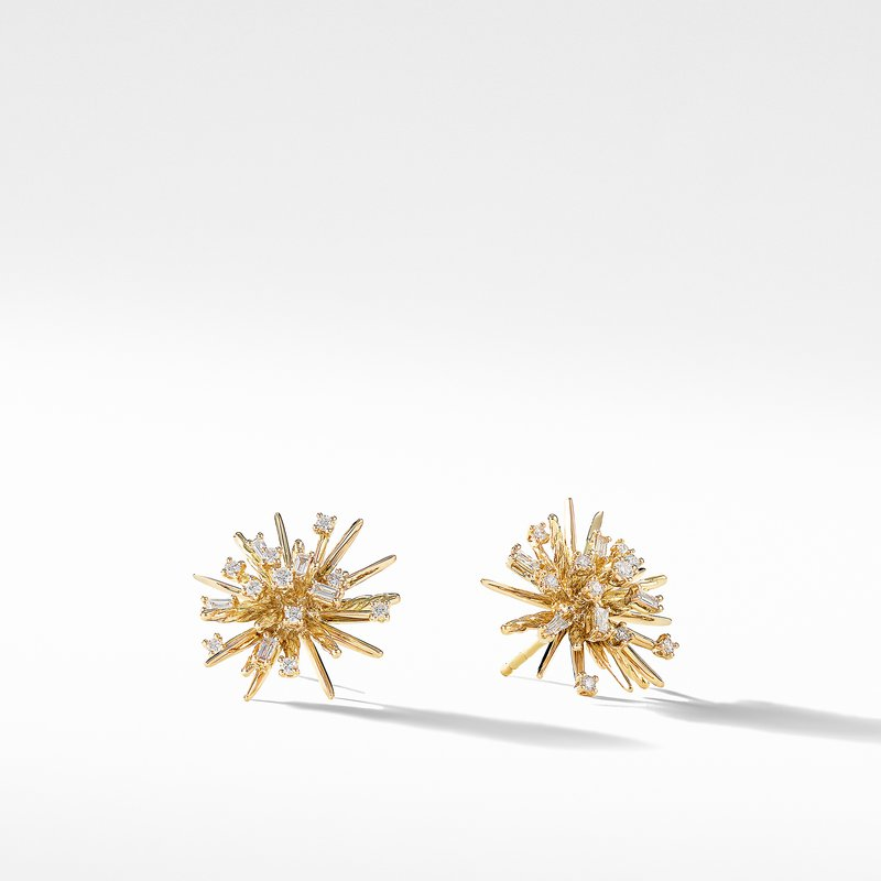 David Yurman Supernova Stud Earrings with Diamonds in 18K Gold