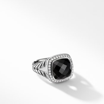 Albion® Ring with Black Onyx and Diamonds