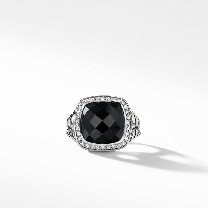 David Yurman Albion® Ring with Black Onyx and Diamonds