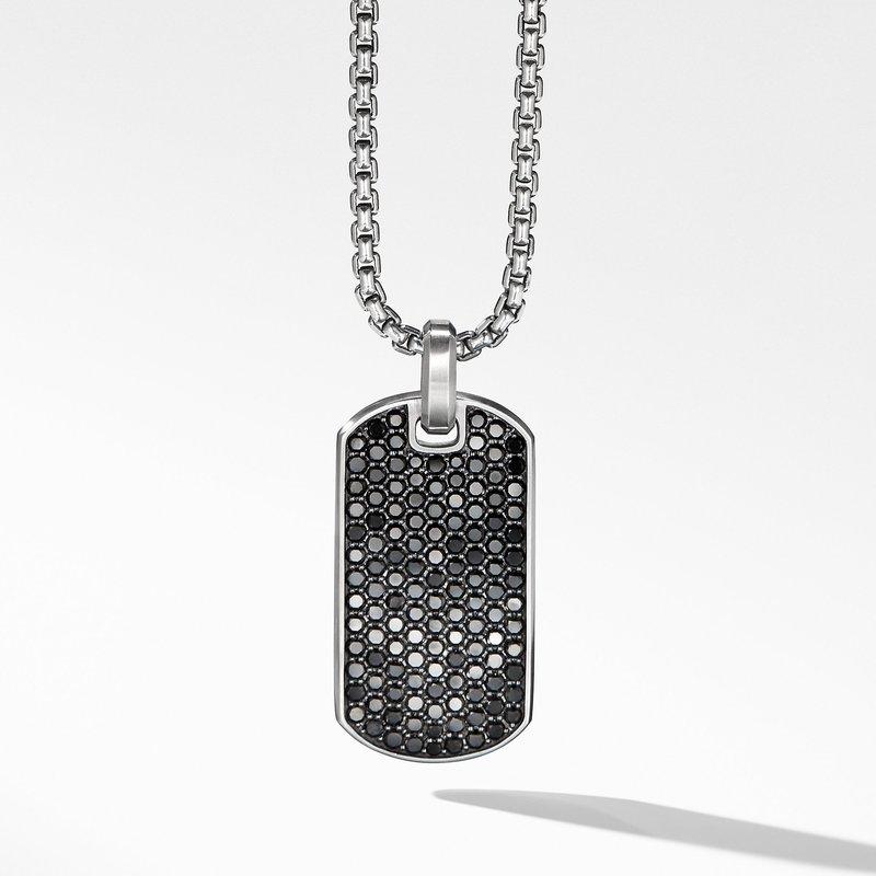 David Yurman Streamline® Tag with Black Diamonds