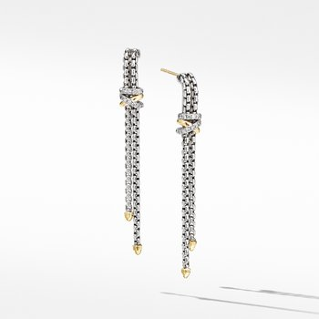 Helena Chain Drop Earrings with 18K Yellow Gold and Diamonds