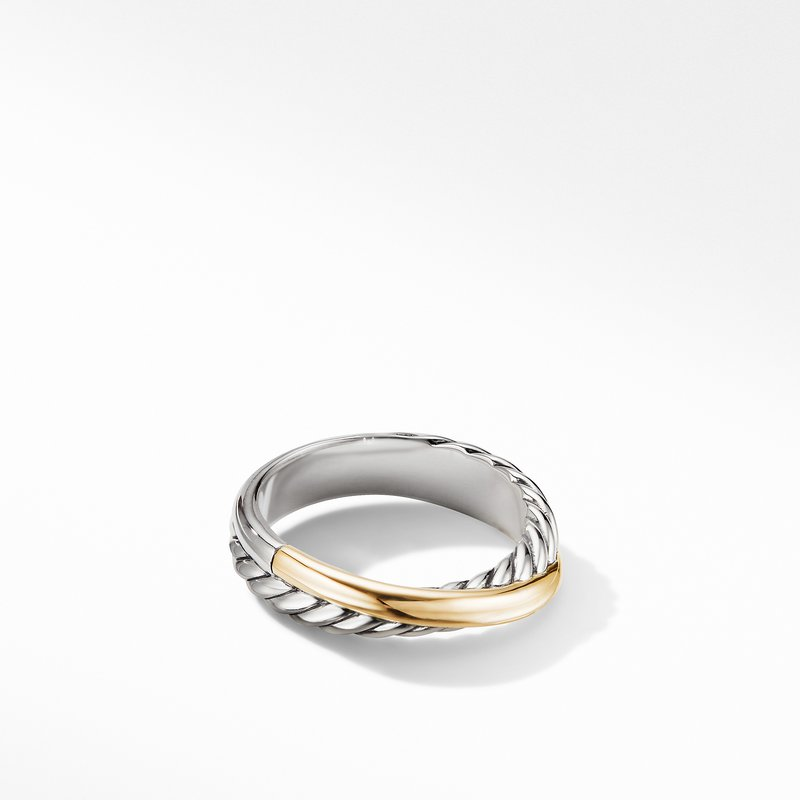 David Yurman Crossover Ring with 18K Yellow Gold
