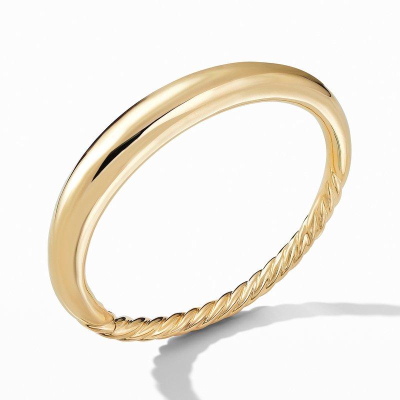 David Yurman Pure Form Smooth Bracelet in 18K Gold, 9.5mm