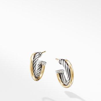 Hoop Earrings with 18K Gold