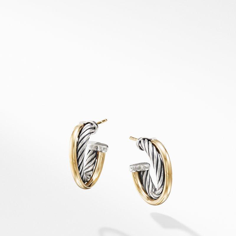 David Yurman Hoop Earrings with 18K Gold
