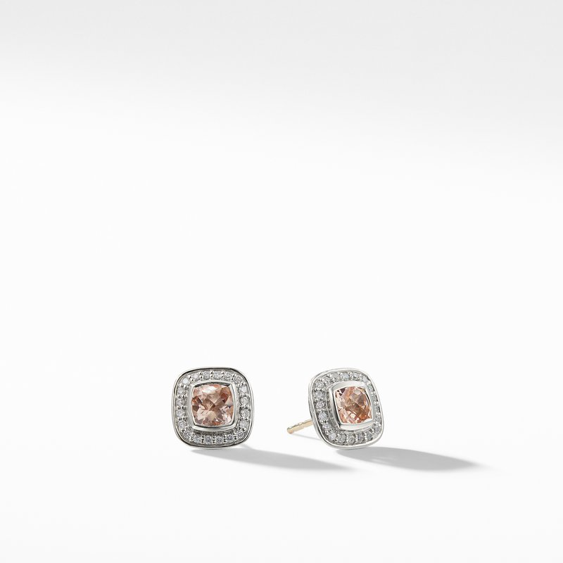 David Yurman Petite Albion Earrings with Morganite and Diamonds