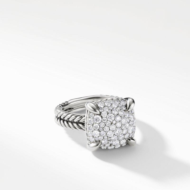 David Yurman Chatelaine Ring with Diamonds, 14mm