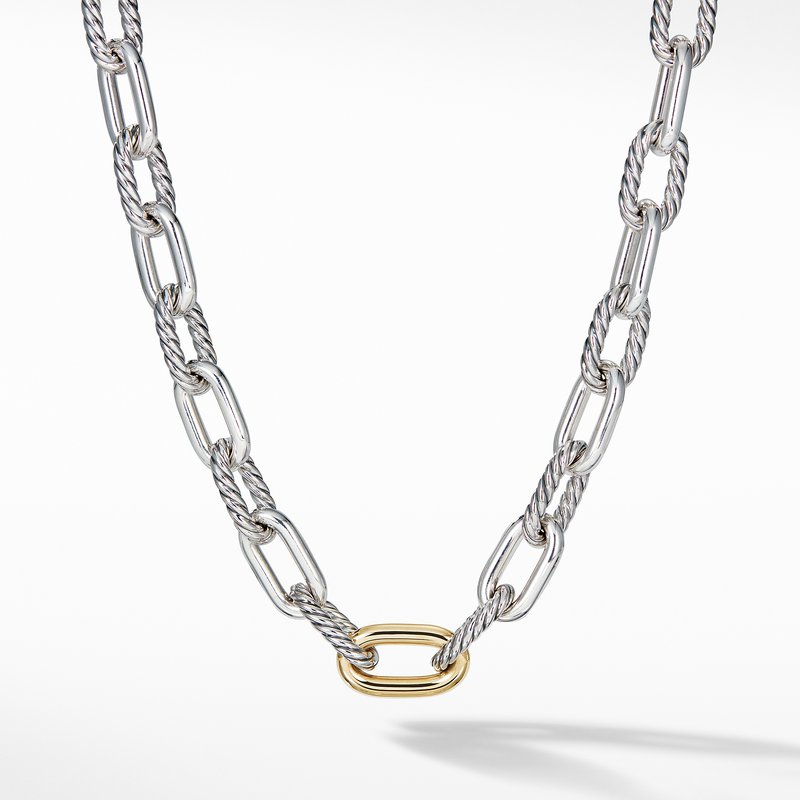 David Yurman DY Madison Large Necklace with 18K Gold, 13.5mm