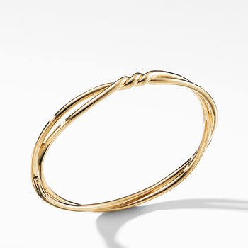 Continuance Center Twist Bracelet in 18K Gold