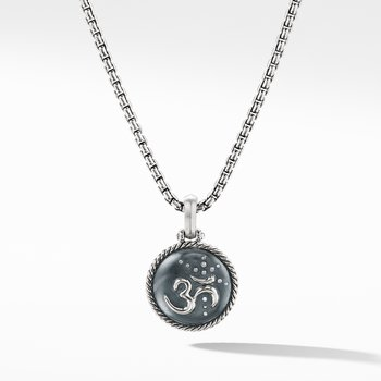 Om Amulet with Diamonds