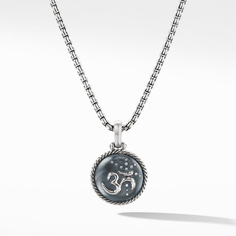 David Yurman Om Amulet with Diamonds