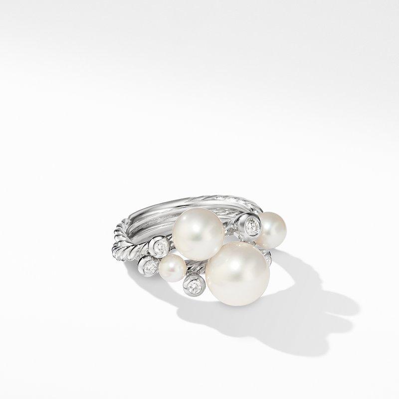David Yurman Pearl Cluster Ring with Diamonds