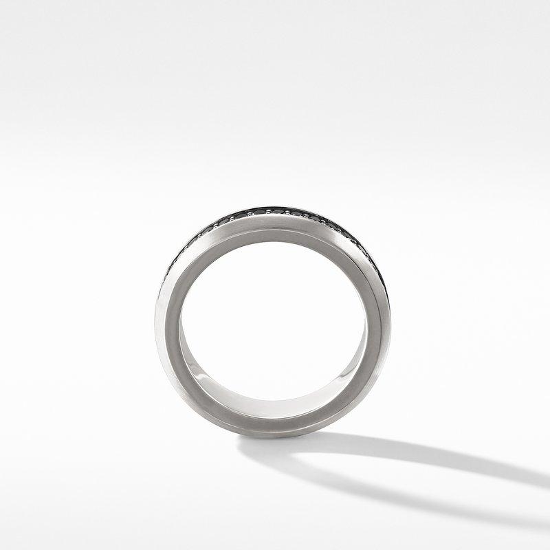 David Yurman Streamline® Band Ring with Black Diamonds