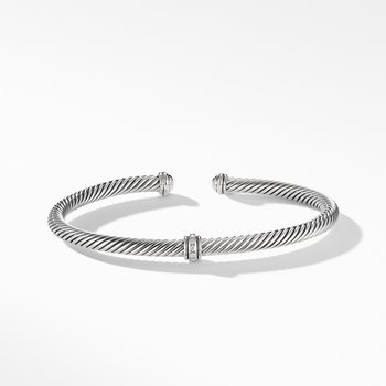 Cable Classic Center Station Bracelet with Diamonds