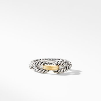 Cable Loop Ring with 18K Gold