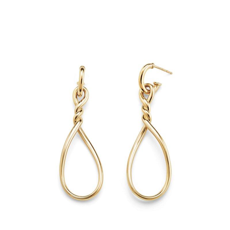 David Yurman Continuance Large Drop Earrings in 18K Gold