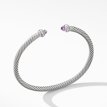 Cable Classic Bracelet with Amethyst and Diamonds