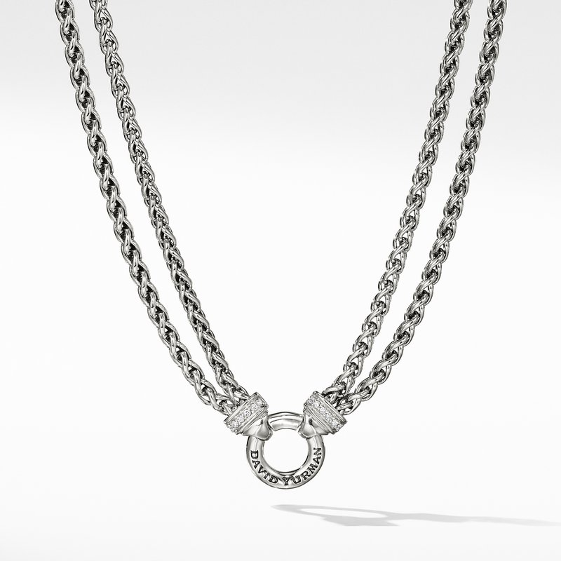 David Yurman Chain Necklace with Diamonds