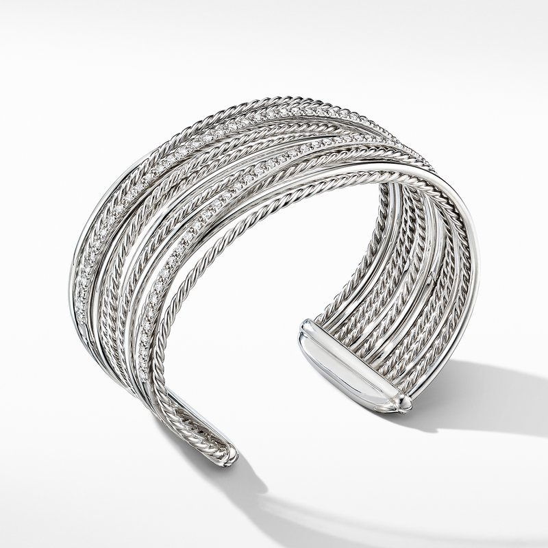 David Yurman The Crossover Collection® Cuff Bracelet with Diamonds