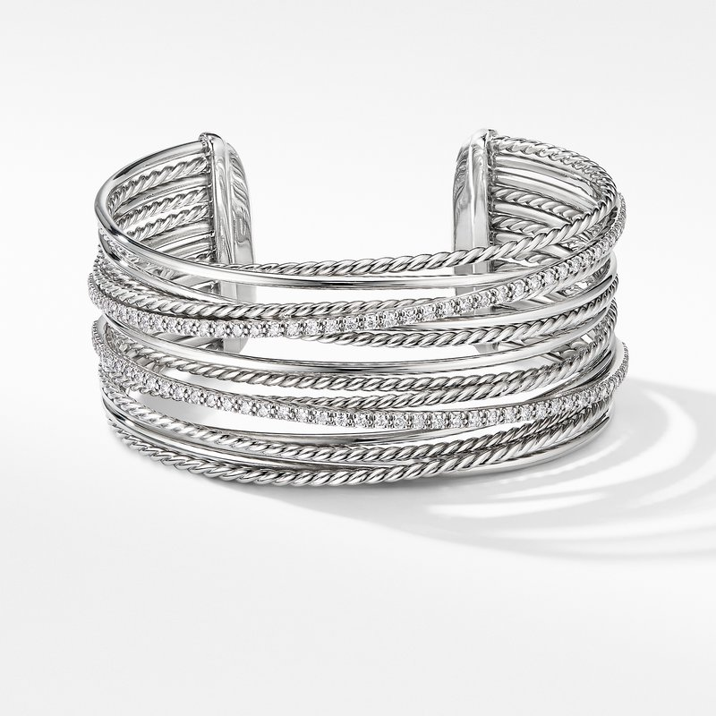 David Yurman The Crossover Collection® Cuff Bracelet with Diamonds