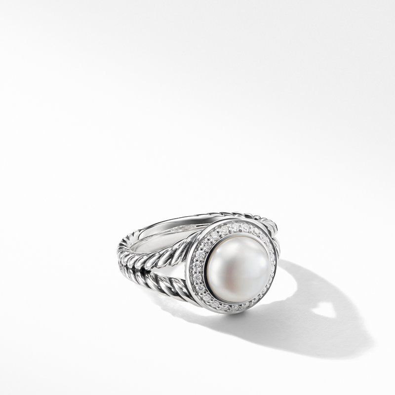 David Yurman Pearl Ring with Diamonds