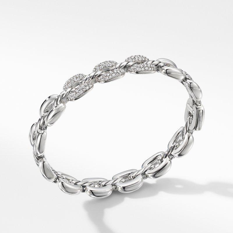 David Yurman Thoroughbred® Cushion Link Bracelet with Diamonds