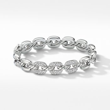 Thoroughbred® Cushion Link Bracelet with Diamonds