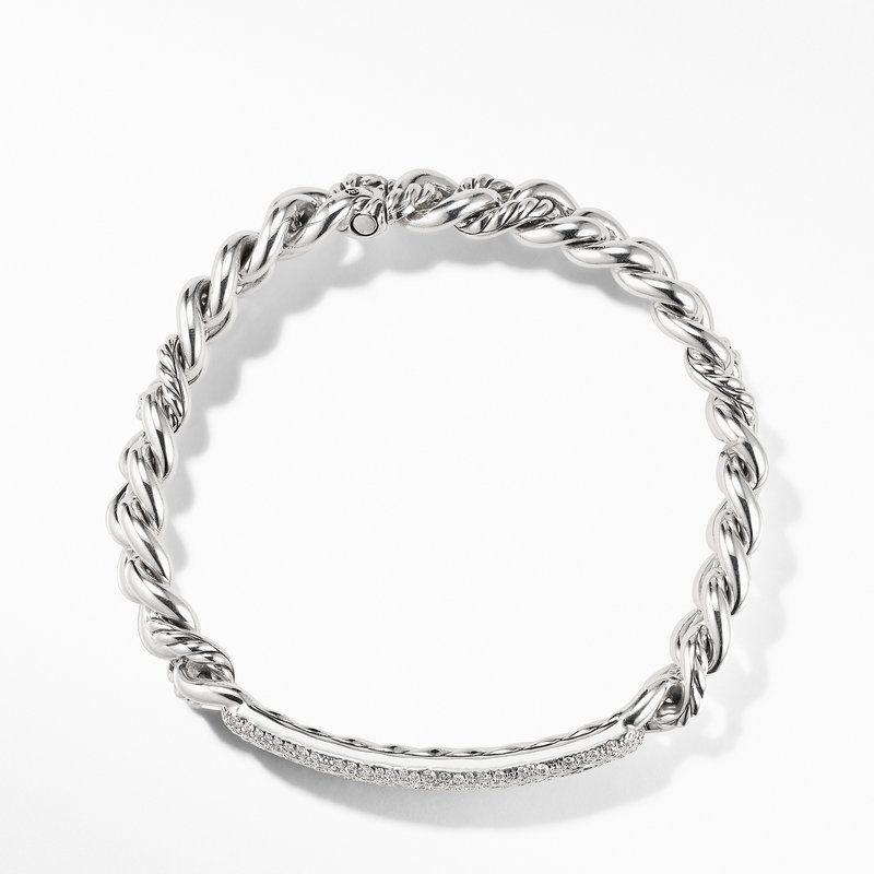 David Yurman Belmont Curb Link ID Bracelet with Pavé Diamonds
