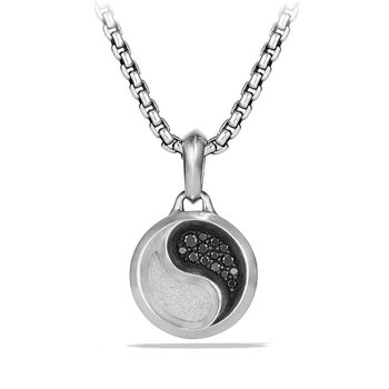 Petrvs Yin Yang Amulet with Black Diamonds