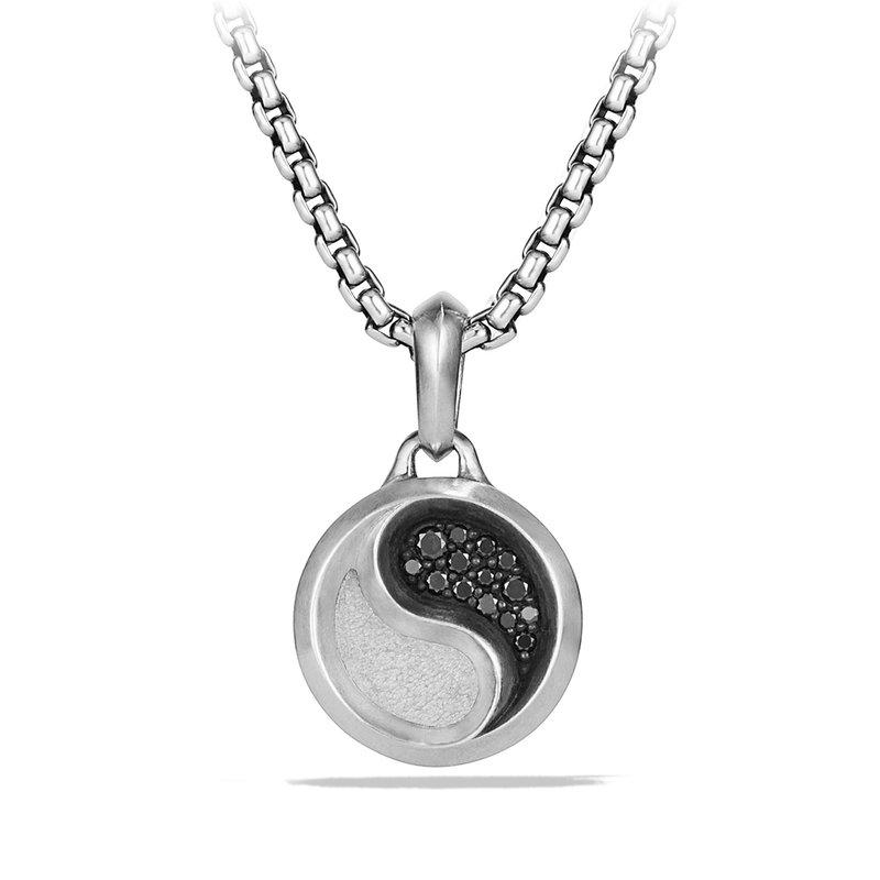 David Yurman Petrvs Yin Yang Amulet with Black Diamonds