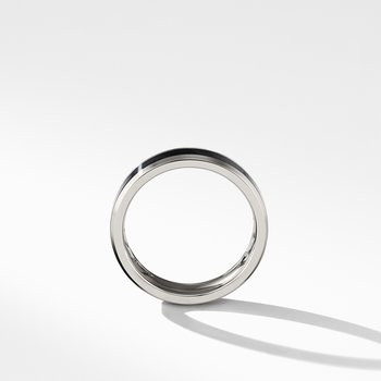 Beveled Band Ring in Grey Titanium with Black Titanium