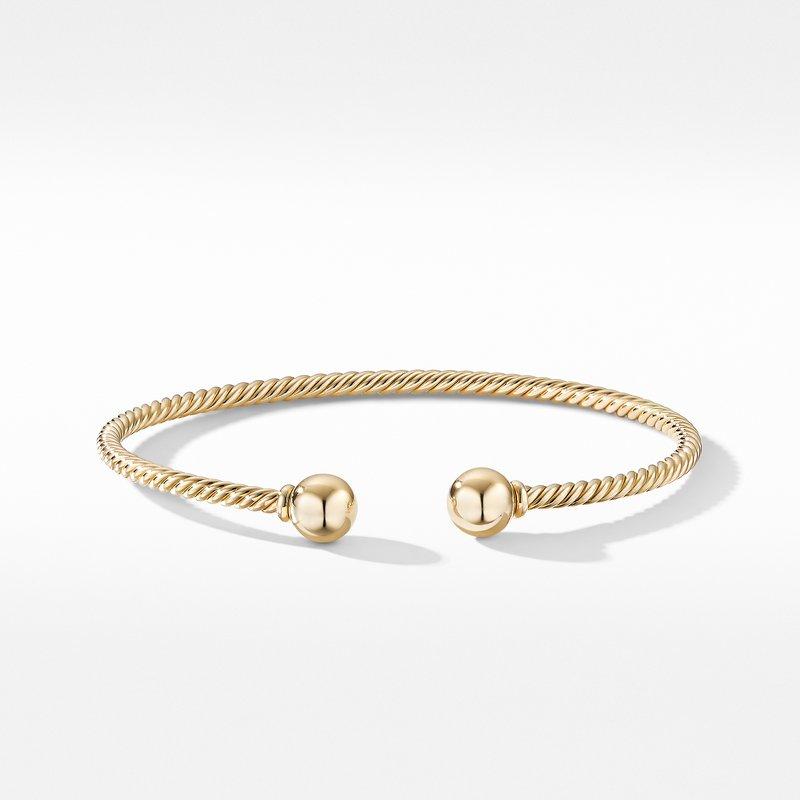 David Yurman Solari Bracelet in 18K Yellow Gold with Gold Domes