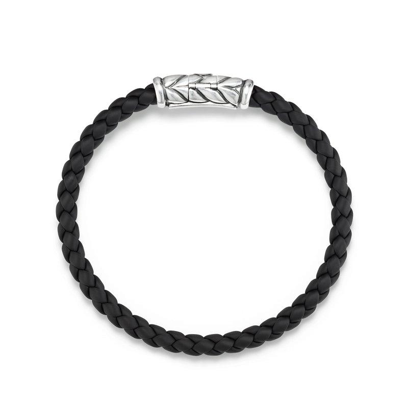 David Yurman Chevron Woven Rubber Bracelet in Black