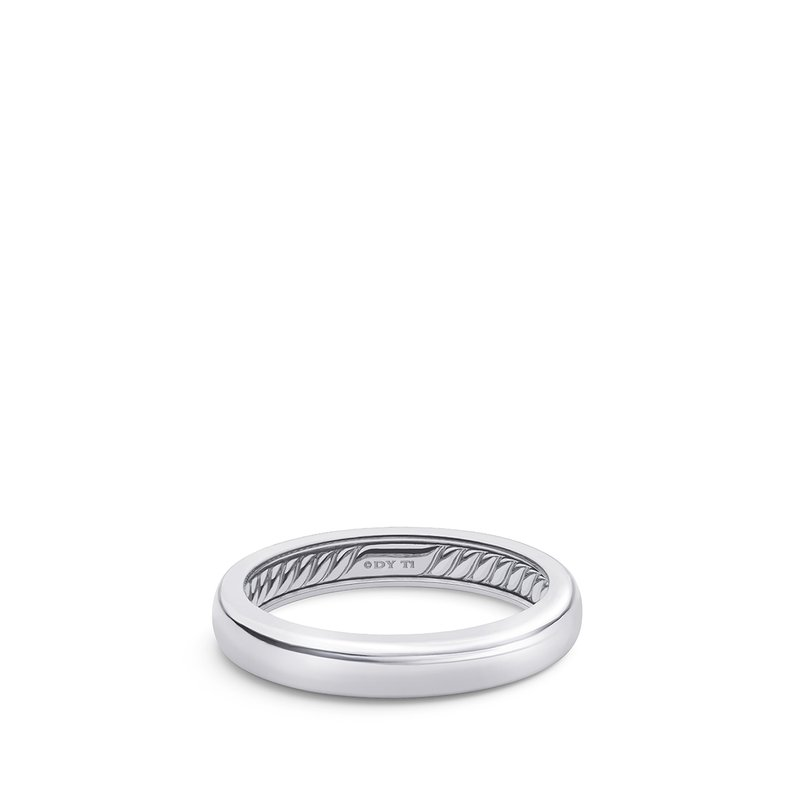 David Yurman DY Classic Band Ring in Grey Titanium