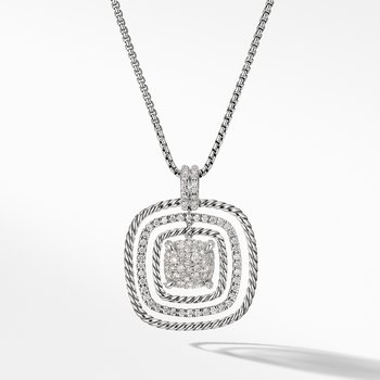 Chatelaine® Pavé Pendant Necklace