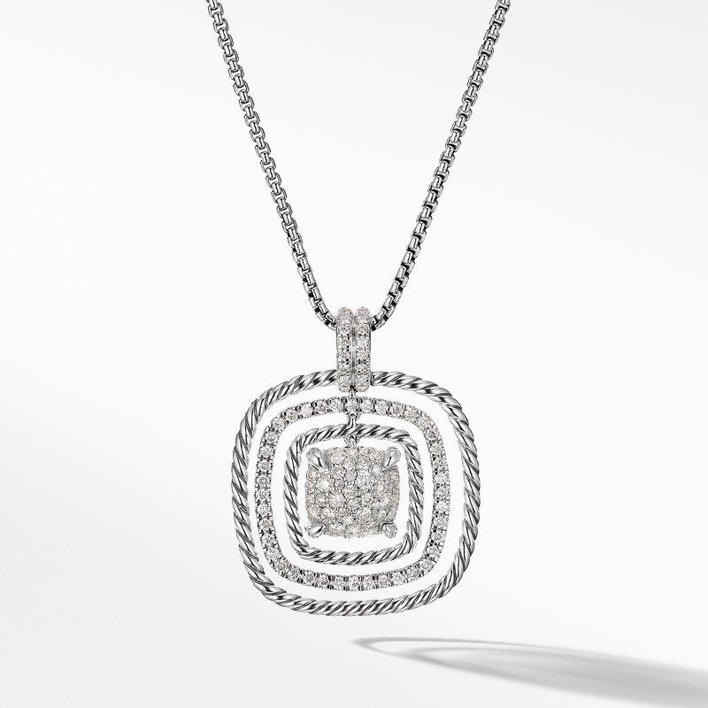 David Yurman Chatelaine® Pavé Pendant Necklace